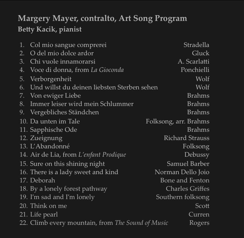 3 Art Songs