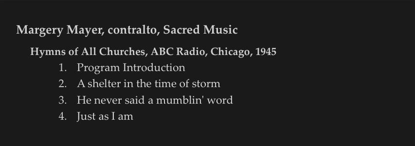 4a Sacred Songs