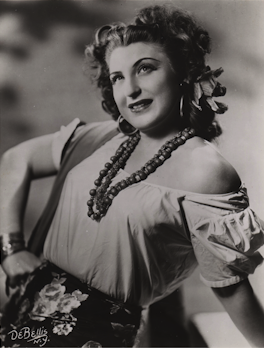 Margery Mayer in the title Role of Bizet's Carmen. Photo: DeBellis, N.Y.