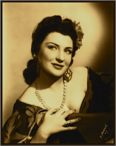 Margery Mayer in title role of 'Carmen'.  Photo: J. Abresch, NYC.